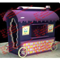 成品移动售货亭户外实木贩卖车重庆游乐园欧式售票亭