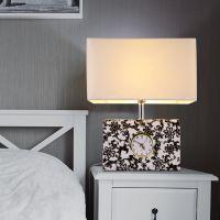 【定制】美式铁艺皮革灯饰创意钟表卧室床头台灯酒店装饰灯具