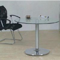 现代多用型时尚圆形玻璃钢西餐桌 中高档西餐桌厂家定做