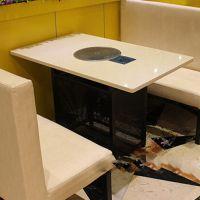 厂价热卖 电磁炉无烟火锅桌椅 小黑牛火锅店指定火锅桌椅