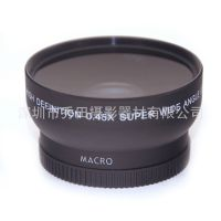秀田58mm广角镜头 0.45x倍广角附加镜 佳能60D 55D 600D 500镜头
