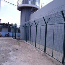旺来供应大量现货特价三角折弯护栏网 市政道路隔离栅 道路绿化带护栏