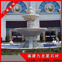 大型别墅埃及米黄喷泉 大理石水景喷泉摆件 石雕水钵生产厂家