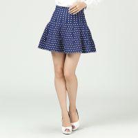 秋冬新款针织高腰弹性好毛衣裙百搭半身裙圆点波点图案羊毛短裙子