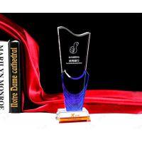 彩色玻璃奖杯 年度***配角演员原创表情大赛腾洪工艺 特别贡献评选活动纪念玻璃刻字奖杯