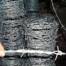 热镀锌带刺铁丝 防盗铁丝线 圈地刺线