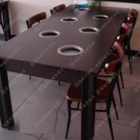 款式尺寸专业定制 古典榆木火锅桌 画布咖啡厅指定火锅桌 大促销