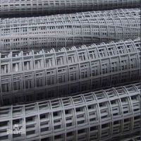 高强钢丝聚乙烯阻燃钢塑土工格栅规格型号定做