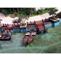 6米贡多拉旅游船 观光船 手划船 欧式木船 景观装饰船 苏兴制造