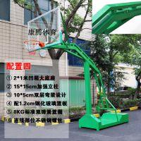 厂家直销康腾标准室内外篮球板 常平钢化玻璃钢篮板