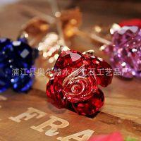 (年度***畅销)水晶玫瑰 水晶玫瑰厂家 浦江水晶厂 情人节礼品C