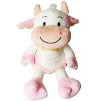 农场毛绒玩具奶牛公仔 白色奶牛可爱公仔 儿童早教玩具 东莞厂家加工定制