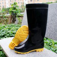 厂家直销男士高帮雨鞋筋底pvc耐油耐酸碱高筒洗车雨鞋批发代发