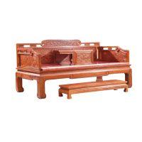 誉典福面向全国供应刺猬紫檀罗汉床 养生仿古卧室中式家具