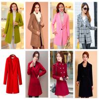 冬季大衣韩版纯色宽松外套呢子新款加厚女装开衫学生便宜毛呢外套