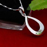【S925纯银】水滴简约时尚吊坠 外贸饰品项链 礼物 项坠厂家直销