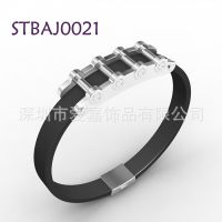能量磁石保健手镯 手环加戒指不锈钢男士手镯品牌加工生产定做厂