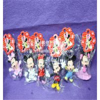 情人节礼物迪士尼系列 PVC 米奇米妮baby情侣钥匙扣钥匙扣摆件