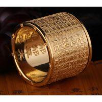 钛钢心经戒指不锈钢经文戒子定制扳指指环来佛教用品加工生产工厂