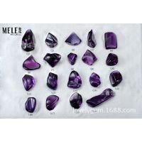 牧乐珠宝 天然深色巴西紫晶异形裸石吊坠 紫罗兰色紫水晶随形坠