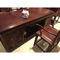 怡棠苑老挝红酸枝官帽椅茶桌