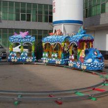 欢乐跑马车 户外儿童新款轨道类游乐设备轨道跑马郑州宏德游乐定制