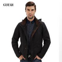 GUEQI 2015新款男士欧美时尚 连帽夹克 时尚男士春秋加大码外套