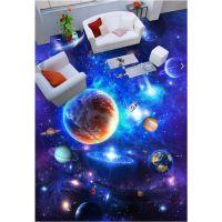 星空银河宇宙3D地板地台地贴