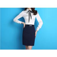 青岛女式工作服|市北区衬衫定做|办公文员工装斜纹长袖衬衣定做