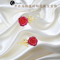 黛雅DAYA ROSE手工制作24K镀金玫瑰花女式胸花 13405828471 天然玫瑰花定制