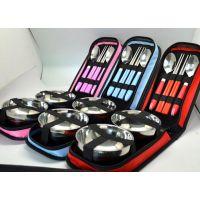 碗包包六件套组 出差旅行餐具套装 碗筷勺组合 员工福利礼品定制 无锡礼品