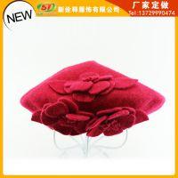 女韩版潮时尚贝雷帽 秋冬帽子女士蓓蕾画家空姐帽 工厂加工定制