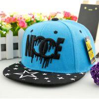 青岛韩版新款宝宝可爱NICE嘻哈帽儿童帽子棒球帽定做加工