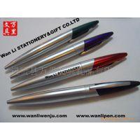 万里制笔供应外贸金属笔 转动式金属笔圆珠笔 旋转式金属原子笔