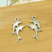 142641 海豚 100个/包 1.2克 30x15mm古青色合金饰品配件批发