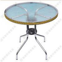 简约风小圆形磨砂玻璃西餐桌 创意造型高档西餐厅餐桌 可定做