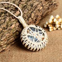 帕洛玛LQA00519-1原创天然玛瑙项链水晶吊坠秋冬长款毛衣链