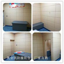 武汉市看守所监狱防撞阻燃软包材料//纪检委墙面防火软包