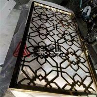 定制黑拉丝不锈钢屏风 玫瑰金古铜拉丝不锈钢隔断 5MM激光雕花板屏风