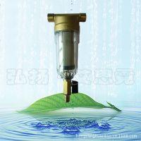 全屋自来水净化器滤水器家用铜前置过滤器除垢防锈器黄铜6分口