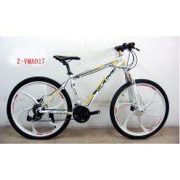 供应26寸24速铝合金禧玛诺变速系统 一体轮山地车 自行车加盟