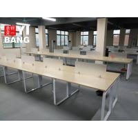 板式钢架组合职员办公桌日字形钢架组合办公桌定做