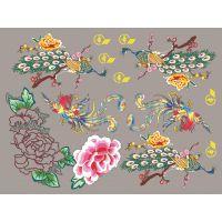 广州烫画厂 供应各种热转印烫画 服半T恤花型烫画图案