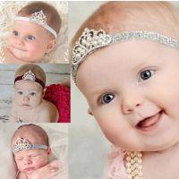 欧美新款皇冠头饰发饰宝宝婴儿童发带百天满月周岁女童饰品发箍