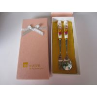 名瑞MR-13109 精美陶瓷柄叉勺餐具 西餐奶油刀 现货批发