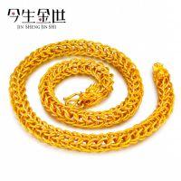 男士磨砂镂空龙头项链 黄铜镀金饰品 颜色媲美真金 畅销爆款