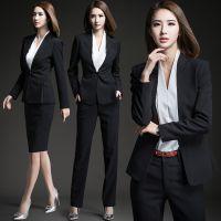 职业装女装套装秋季新款长袖修身气质西服商务西装面试正装工作服