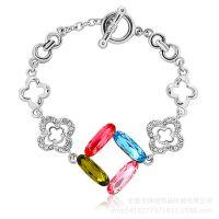 韩版首饰厂家 锌合金手链 水晶锆石手链