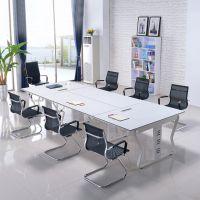 广州广时杰办公家具GSJ-8118 广州简约会议桌 钢木结构会议桌 板式办公台 厂家直销