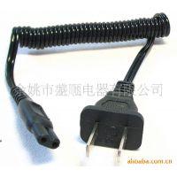 商家批发销售高品质国标弹簧线插头  二芯弹簧线插头 扁线弹簧线
